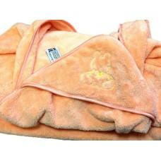Детский уголок-полотенце с вышивкой заяц и ProTex (бамбук+хлопок+микрофибра)