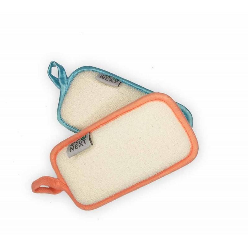Натуральная мочалка-губка для детей и взрослых (натуральная люфа+ морские водоросли)