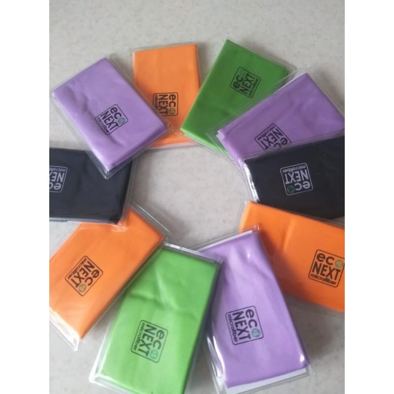 Салфетка для очков из микрофибры в новой упаковке EcoNext
